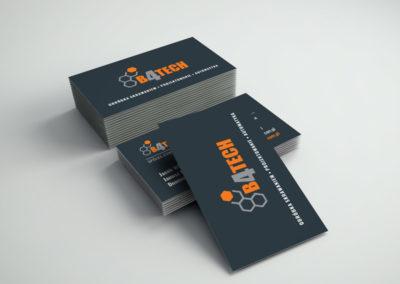 Projekt i druk wizytówek dla firmy B4TECH