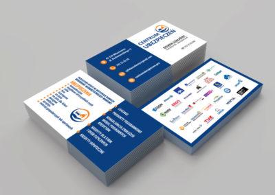 Projekt i druk wizytówek dla Centrum Ubezpieczeń
